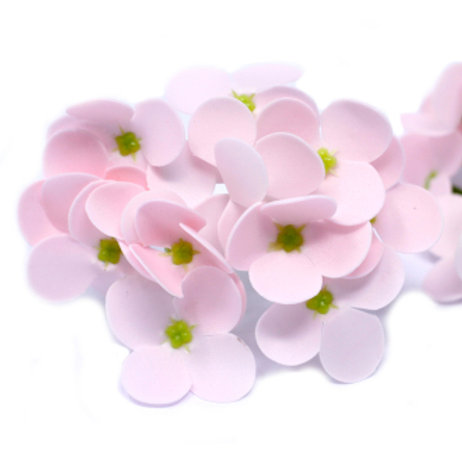 10x Craft Soap Flowers - Hyacinth Bean - Pink