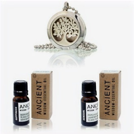 Diffuser Necklace and Essential Oil Blends Set