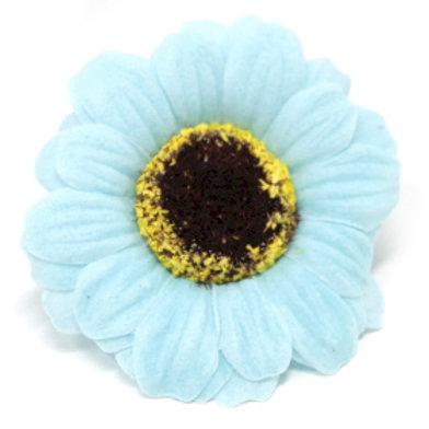 10x Craft Soap Flowers - Sml Sunflower - Blue