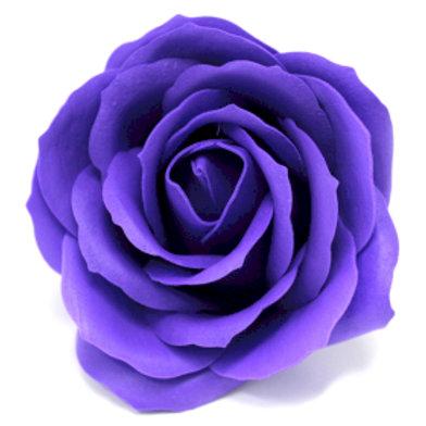10x Craft Soap Flowers - Lrg Rose - Violet