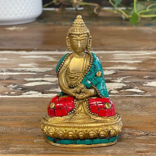 Brass Buddha Figure - Blessing - 7.5cm