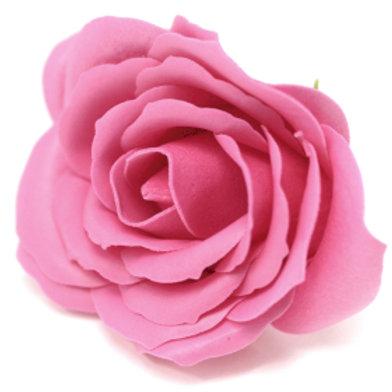 10x Craft Soap Flowers - Lrg Rose - Rose