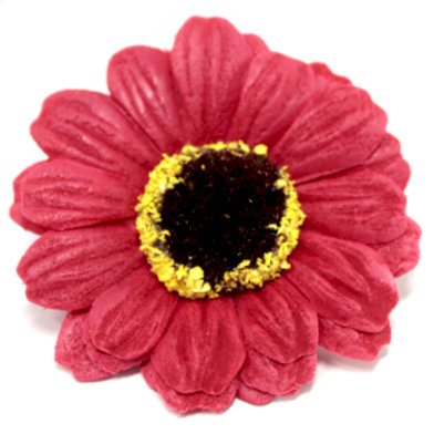 10x Craft Soap Flowers - Sml Sunflower - Red