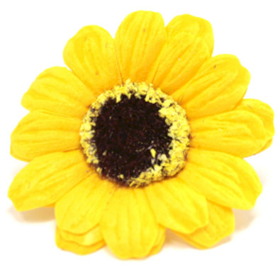 10x Craft Soap Flowers - Sml Sunflower - Yellow