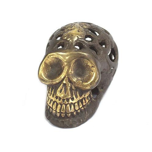 Vintage Brass Skull - Small