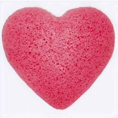 Konjac Heart Sponge - Rose