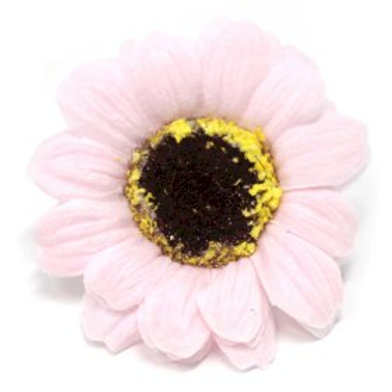 10x Craft Soap Flowers - Sml Sunflower - Pink