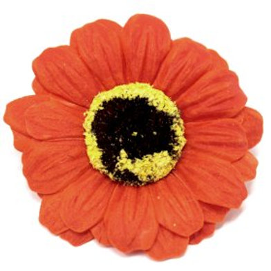 10x Craft Soap Flowers - Sml Sunflower - Orange