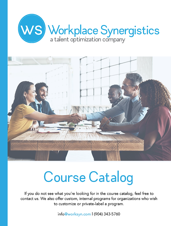 Cover Workplace Synergistics Course Cata