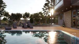 Διώροφη εξοχική οικία με πισίνα και αίθριο