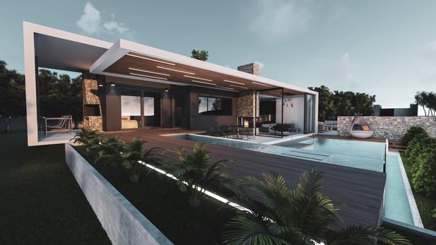Παραθαλάσσια ισόγεια οικία με πισίνα