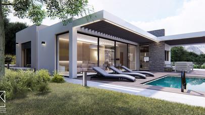 Ισόγει οικία με πισίνα
