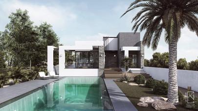 Ισόγεια οικία με πισίνα
