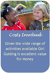 Cost involved in Girlguiding