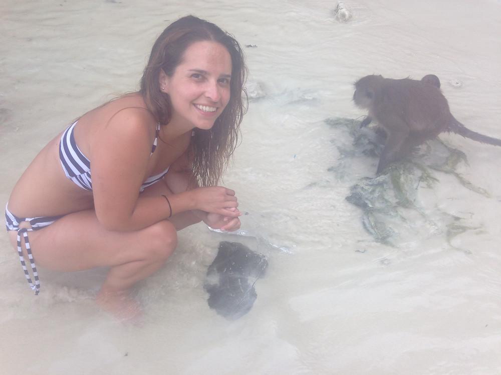 Juanita en Monkey Beach