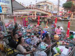 Mercado flotante Bangkok, Tailandia