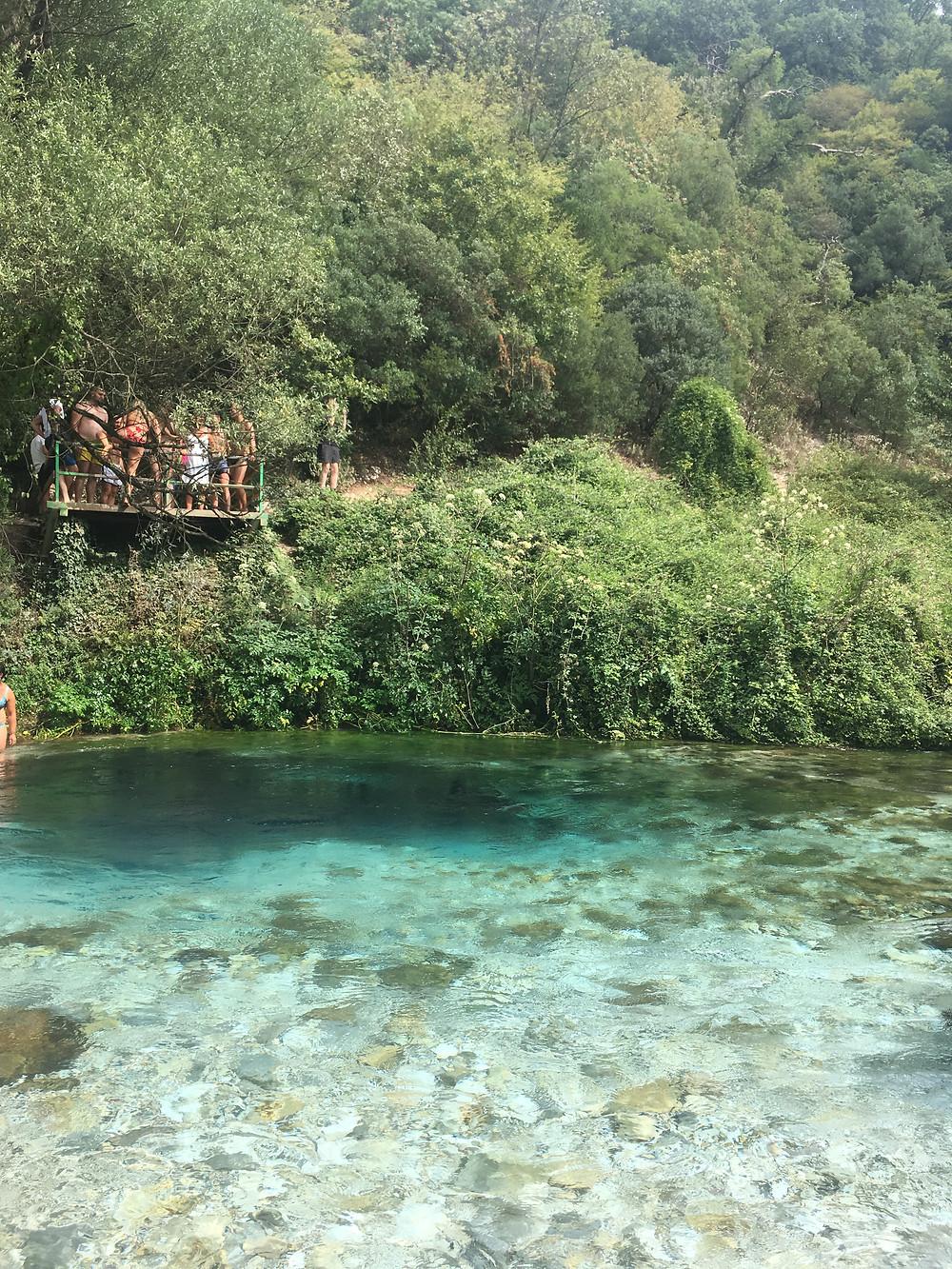 Blue Eye en Albania, cerca de Sarande