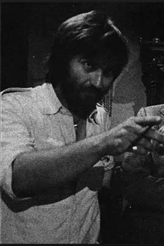 Tobe Hooper no set de filmagens