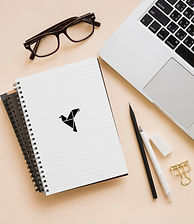 overhead-view-stationeries-laptop-beige-
