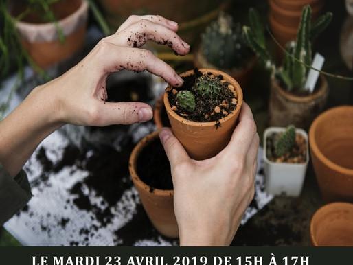 Atelier jardinage à la MJC-EVS de La Tour-du-Pin