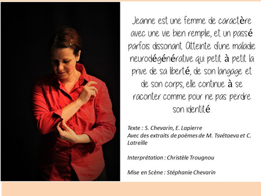 """SPECTACLE """"JEANNE"""""""