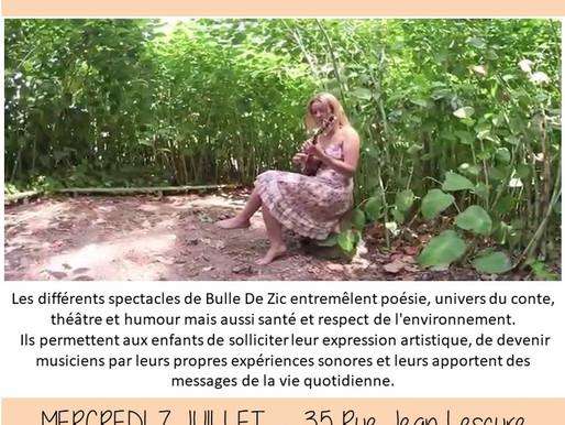 "CONTE MUSICAL ""BULLE DE ZIC"" dans son potager"