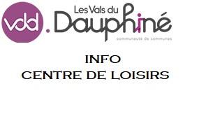 INFO centre de loisirs de la CC.Vals Du Dauphiné