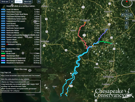 "The Chesapeake Conservancy and Terrain360.com present a ""river view"" virtual tour of the Nanticoke."
