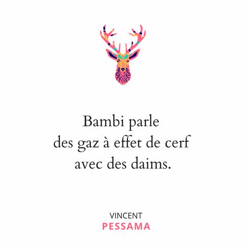 Jeu de mots Bambi Pessama