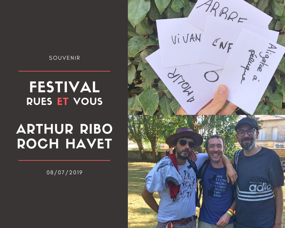 Arthure Ribo, Roch Havet et Vincent Pessama après une scène slam en Gironde