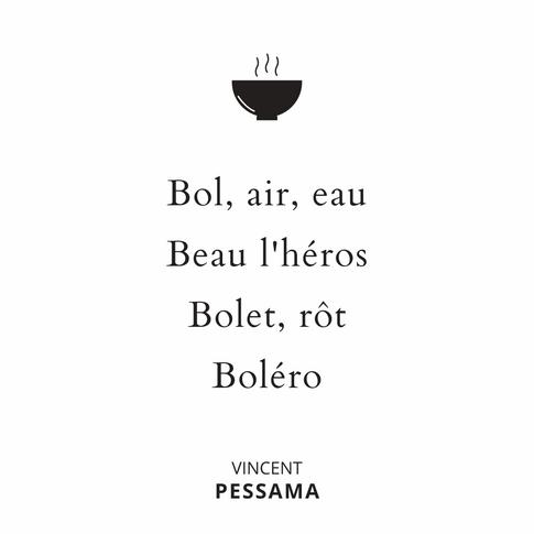 Jeux de mot poete Pessama