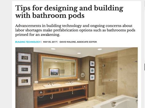 BD+C Magazine Showcases Bathroom Pods