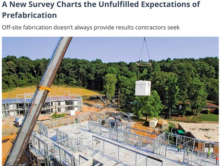ENR – New Survey Charts the Unfulfilled Expectations of Prefabrication