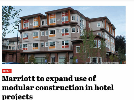 Construction Dive – Marriott to expand use of modular construction in hotel projects