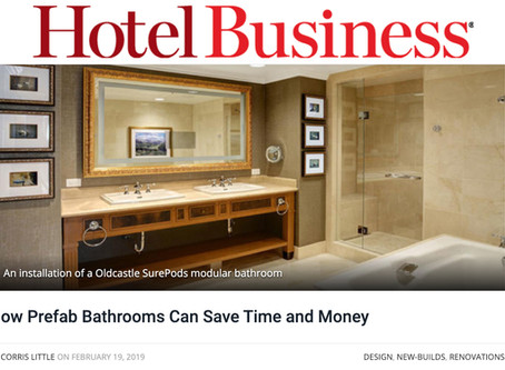 Hotel Business Article – How Prefab Bathrooms Can Save Time and Money