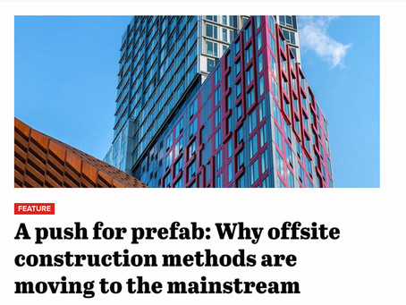 Construction Dive – A push for prefab: Why offsite construction methods are moving to the main