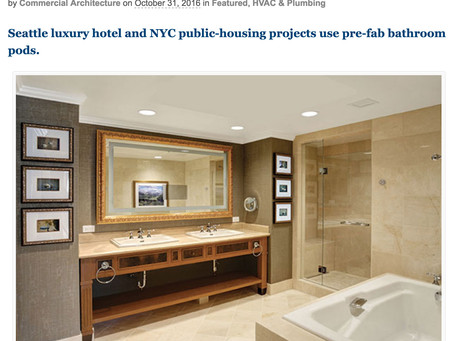 Modular Bathrooms Clean Up Construction Hassles by Commercial Architecture