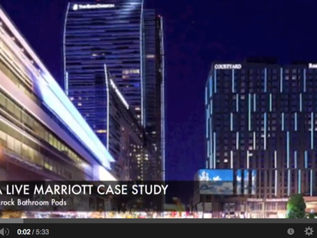 LA LIVE Marriott uses SurePods Bathrooms to Save Time