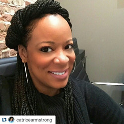 _catricearmstrong rocking her box braids