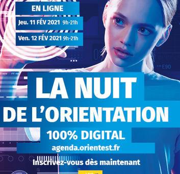11 & 12 fév. 2021 - NUIT DE L'ORIENTATION 100% digital (CCI Grand Est)