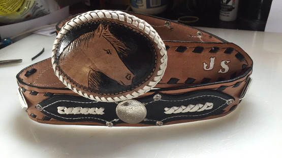 Leather Belt Buckle with Custom Made Belt