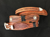 Tooled Belt with conchos