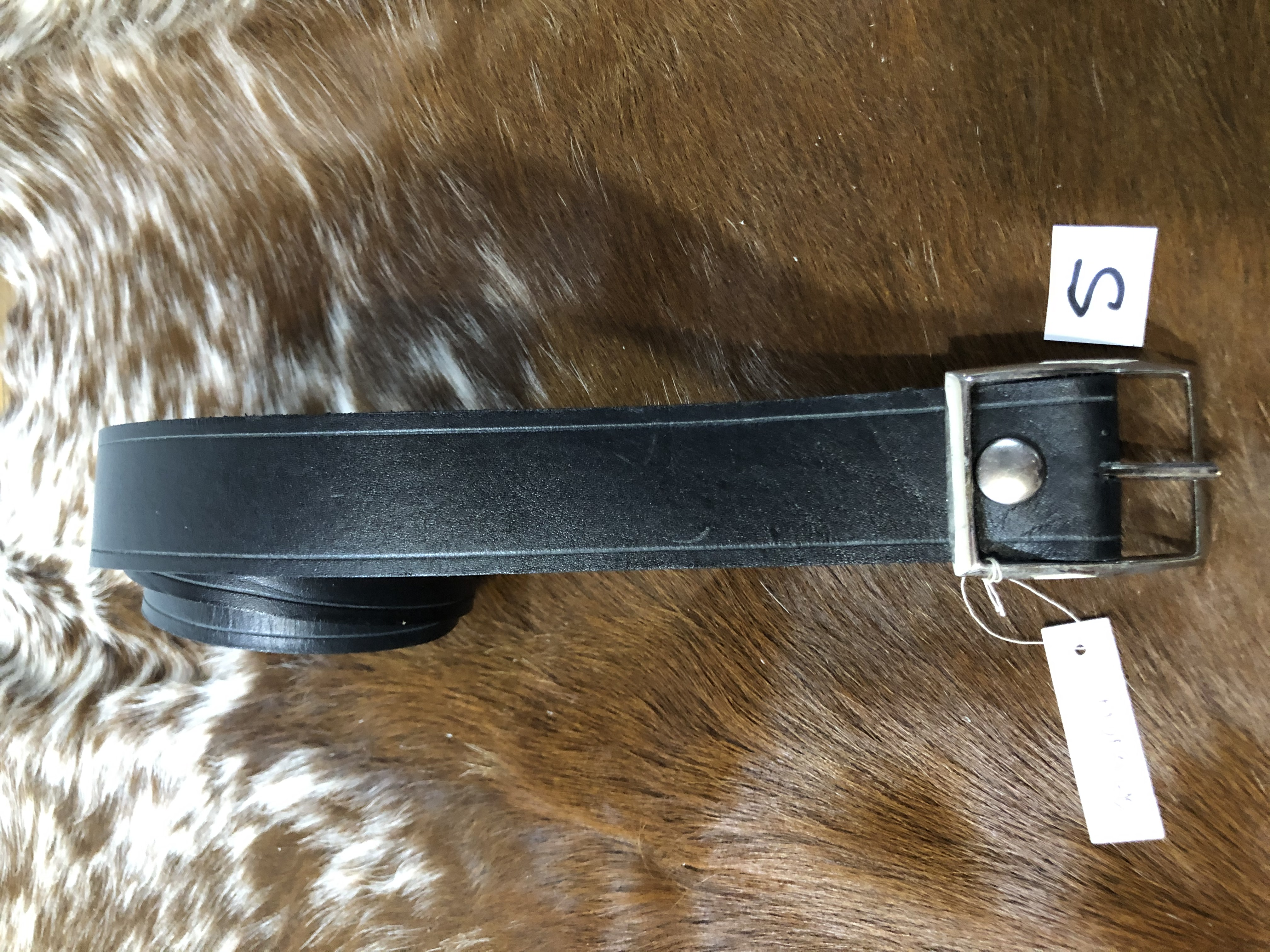 "36""x1 1/2"" Black Dress belt"