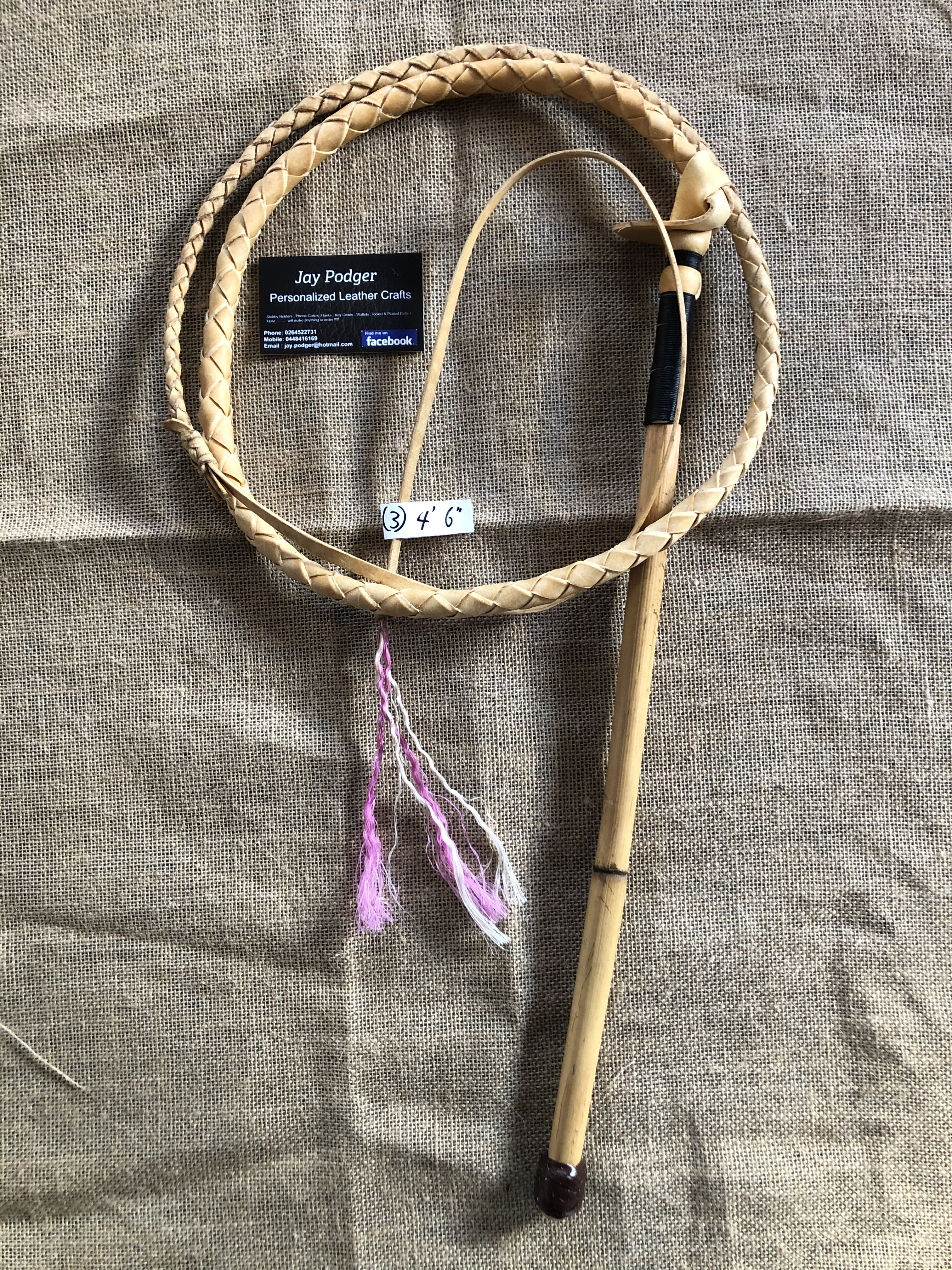White hide Adult whips