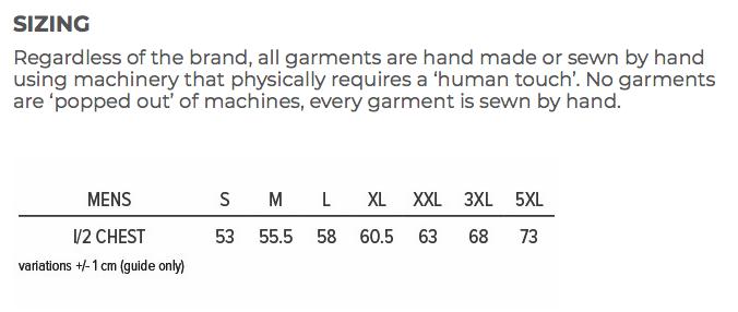 Mens Size Chart