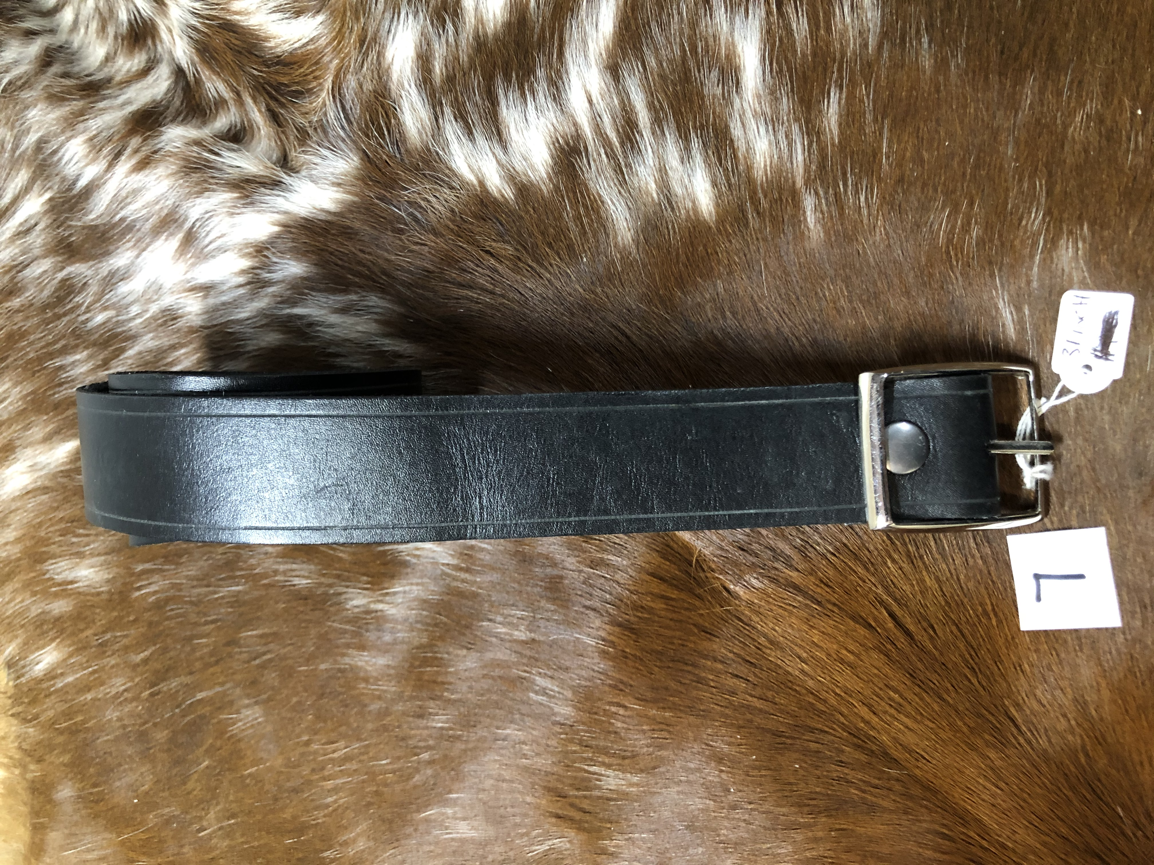 "32"" x 1 1/2"" Black Dress Belt"