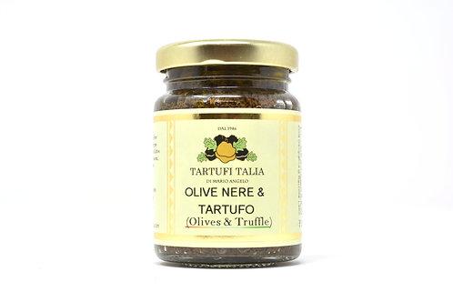 Olive Nere e Tartufo / Tuber Aestivum Vitt. Peso Netto 90 g.