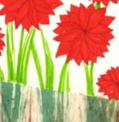 Red Flowers in Wheat Field