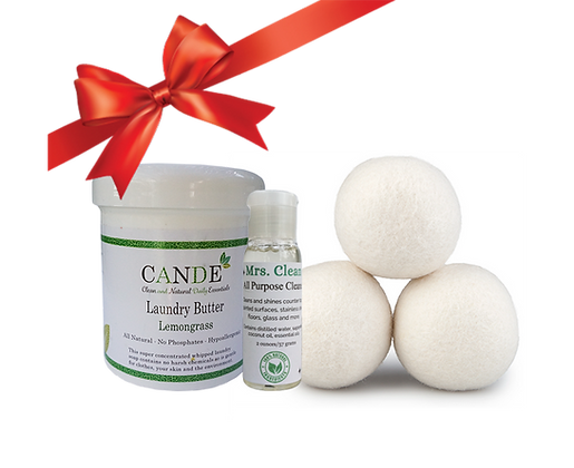 Laundry Day Gift Set (Laundry Soap, Mrs. Clean & Dryer Balls)