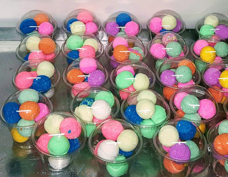 gumball bath bombs